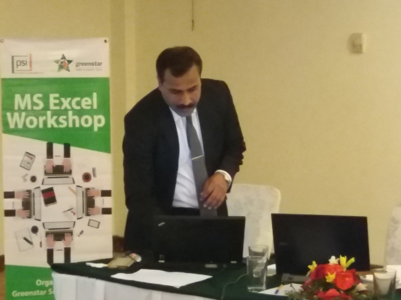 Excel with Green Star at Islamabad
