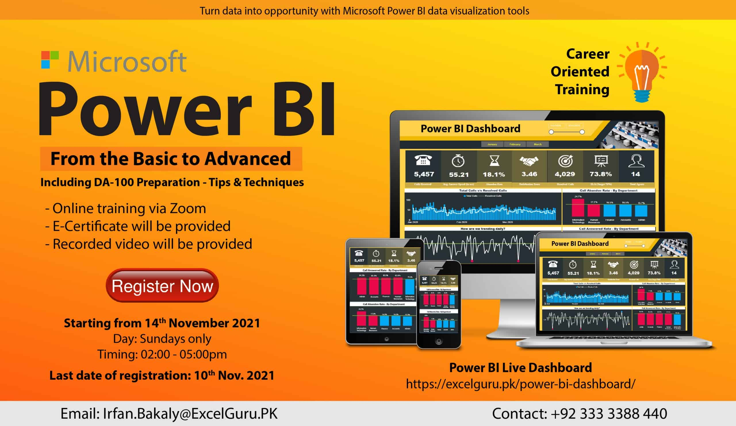 Power BI Training Nov-Dec 2021